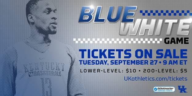 Uk Basketball Blue White Game: Kentucky Basketball: Blue-White Game Tickets Set To Go On